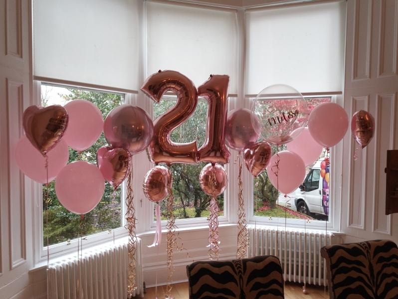 Birthday Balloons 21st