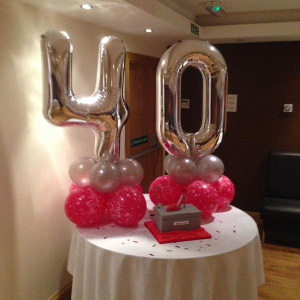 Birthday Balloons 40th Birthday Party Balloons And