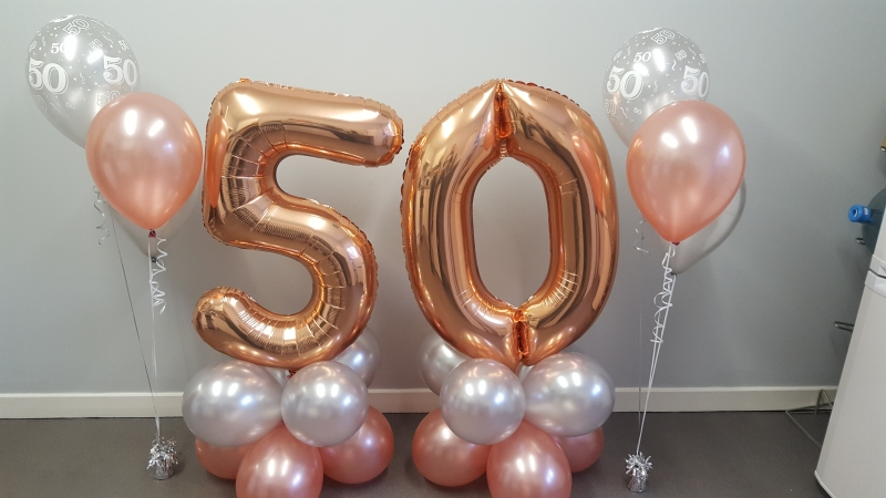 Birthday Balloons 50th Birthday Party Balloons And