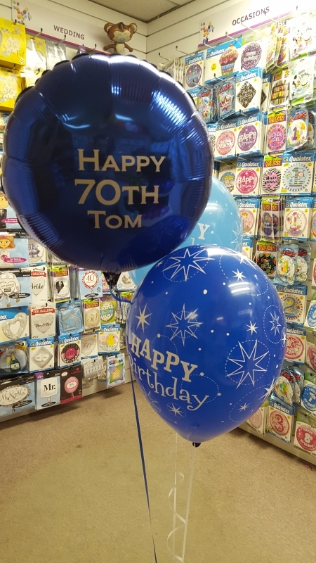 Birthday Balloons 70th Birthday Party Balloons And