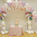 Balloon arch with letters