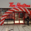 Spiral balloon arch in East Kilbride