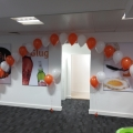 Indoor corporate balloon arch in Glasgow