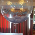 Blue Feather bubble balloon