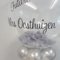 Silver Feather bubble balloon