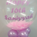Pink feather gumball balloon