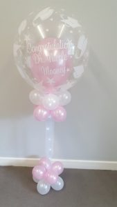 Standard bubble balloons, preprinted or with balloons inside