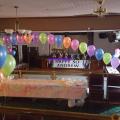 Large indoor arch at Condorrat Social Club