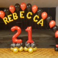 Indoor large balloon arch in Burroughs club