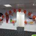 Indoor corporate balloon arch in Glasgow