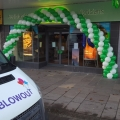 Specsavers outside balloon arch