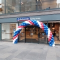 Outdoor corporate balloon arch in Glasgow