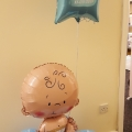 Baby on a base with personalised foil