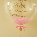 Pink Feather bubble balloon