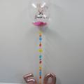 Confetti bubble balloon with coloured tail