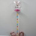Confetti bubble balloon with coloured tail