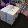 Gender reveal balloon box