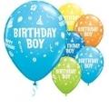 Birthday boy balloons assorted