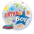 Birthday boy bubble