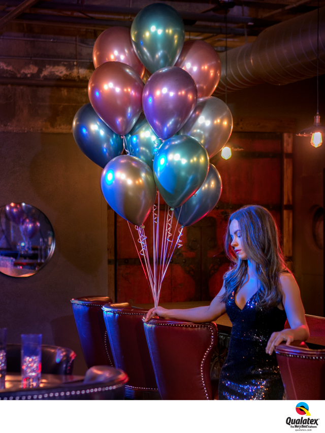 Qualatex Chrome Latex Balloons Party Blowout