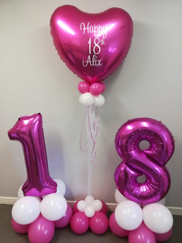 Large Pink Number Balloons