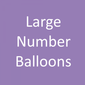 """Large 34"""" Balloon Numbers"""